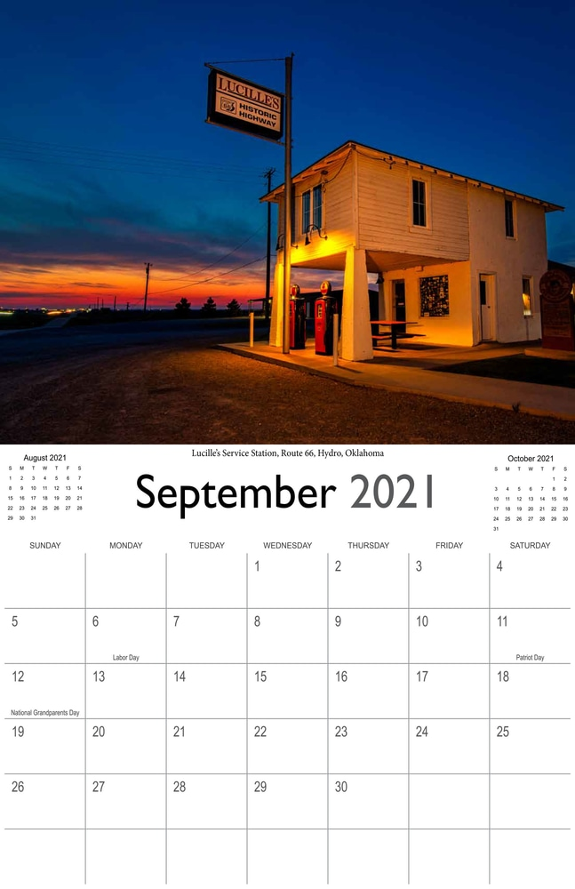 2021 Sunrises and sunsets calendar September