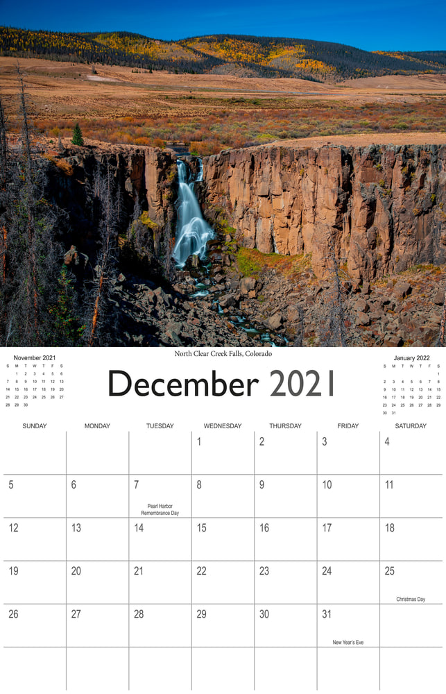 2021 Wonderful Waterfalls December