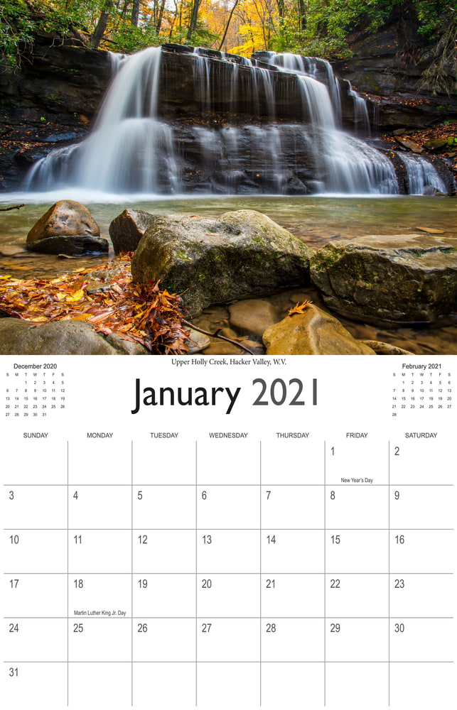 2021 Wonderful Waterfalls January
