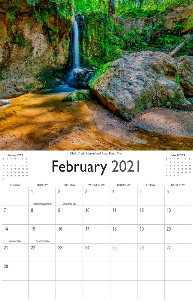 2021 Wonderful Waterfalls February