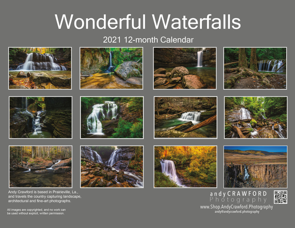 2021 Wonderful Waterfalls back cover