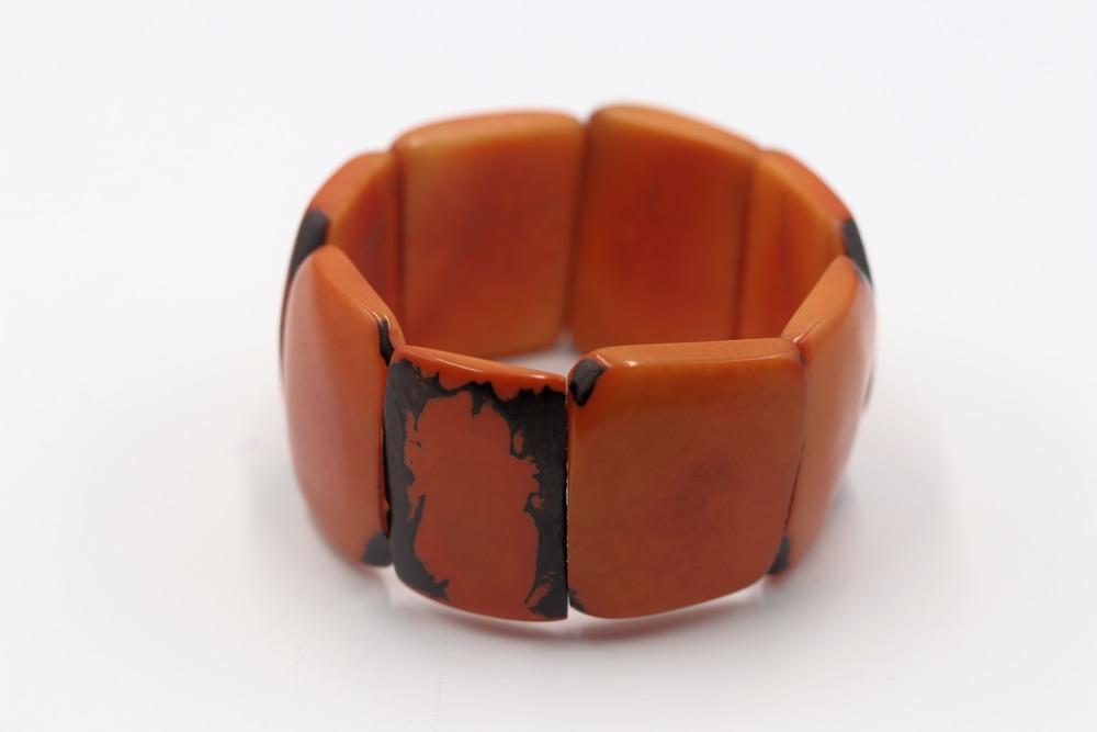 Rosario Jaramillo Tagua Nut Jewelry Orange Bracelet $19