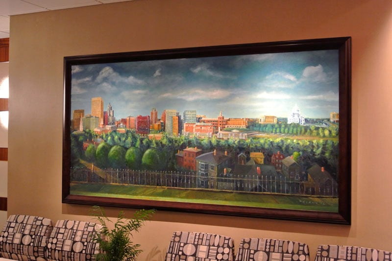 """New Providence Skyline,"" installed"