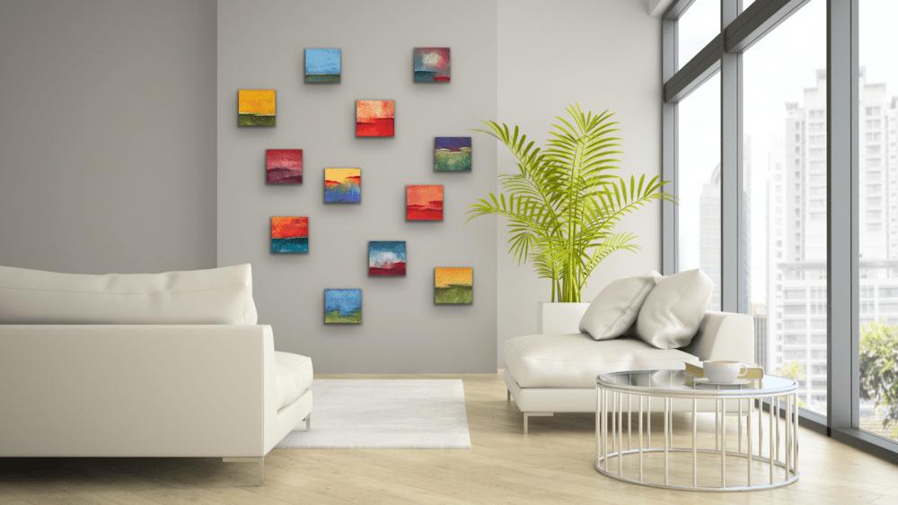 Twelve 8x8 on wall 2