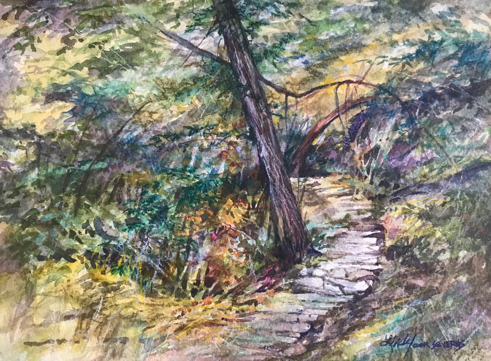 The Path Time Forgot 8x10 watercolor Lindy Cook Severns