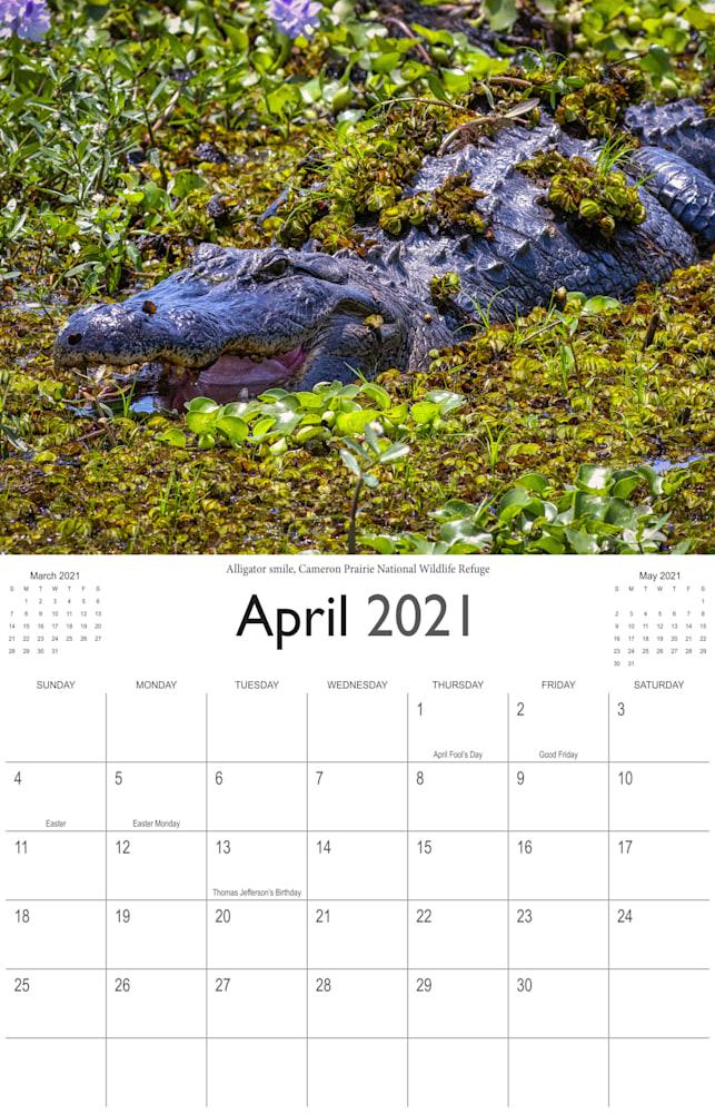 2021 Bayou Paradise April