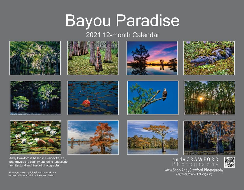 2021 Bayou Paradise back cover