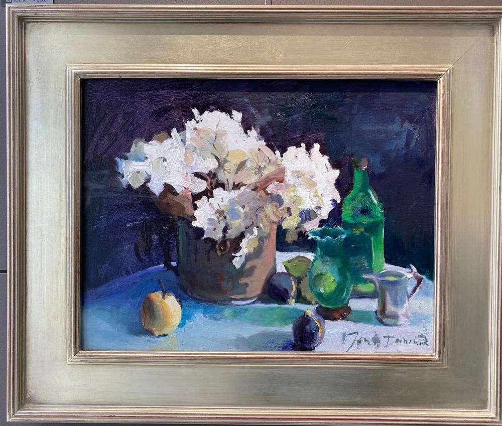 19   Hydrangeas w Green Vases 18 x 24 (Framed)