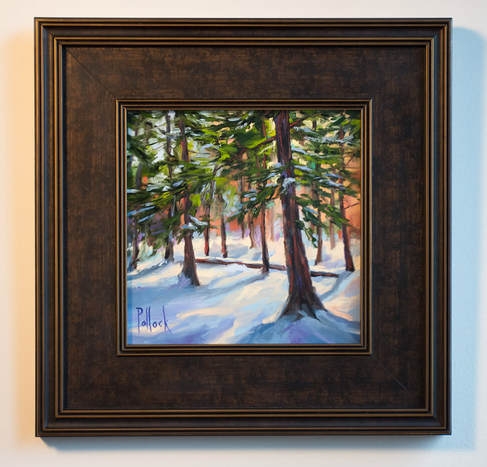 study winter pines trace framed 01
