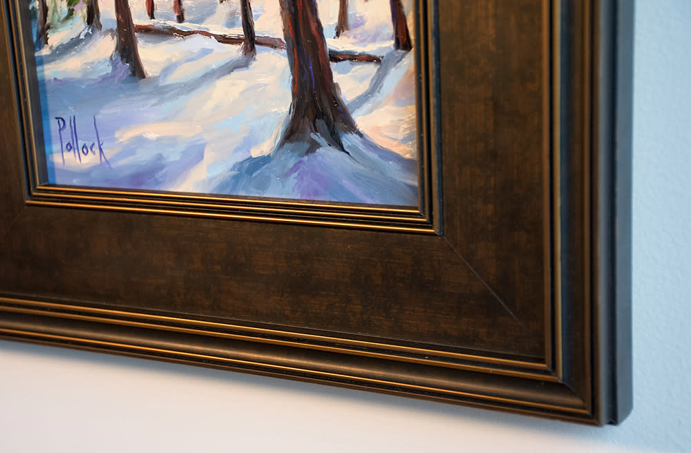 study winter pines trace framed 02