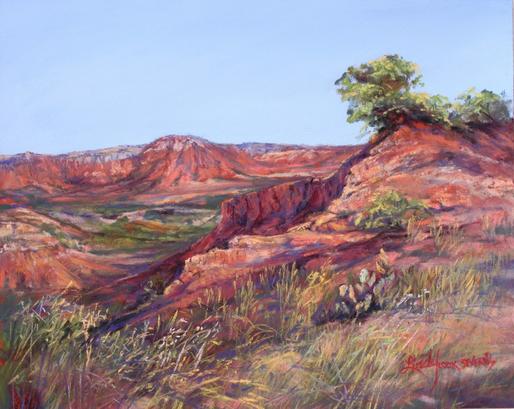 24j17 Deep in Canyons 8x10 pastel Lindy C Severns