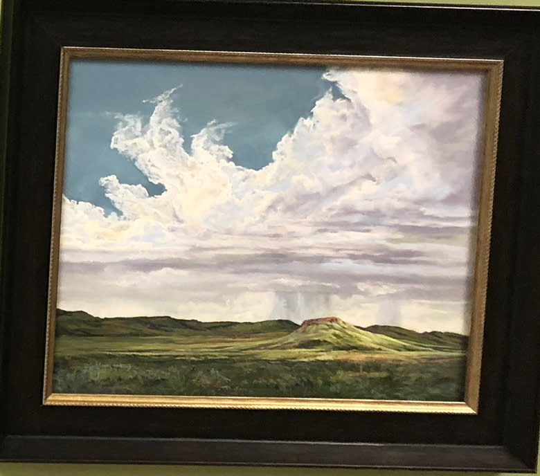 Lofty Places 16x20 pastel Lindy Cook Severns framed
