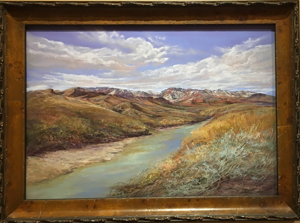Snowy Peaks on the Rio Grande Lindy Cook Severns framed 980x