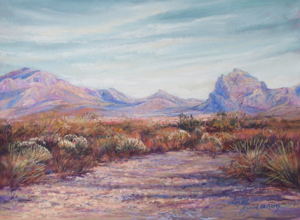 20F14 Autumn Color West TX Style 9x12 pastel Lindy C Severns edited 1