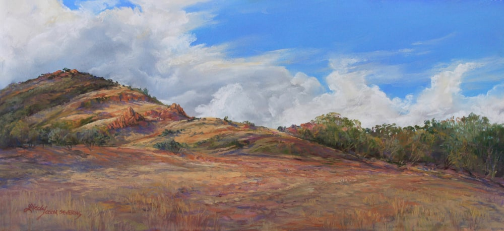 15F13pa BREAKING THE DROUGHT 10X21 pastel