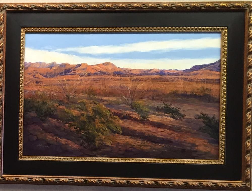 Ribbons of Sunset 24x36 pastel Lindy Cook Severns framed copy