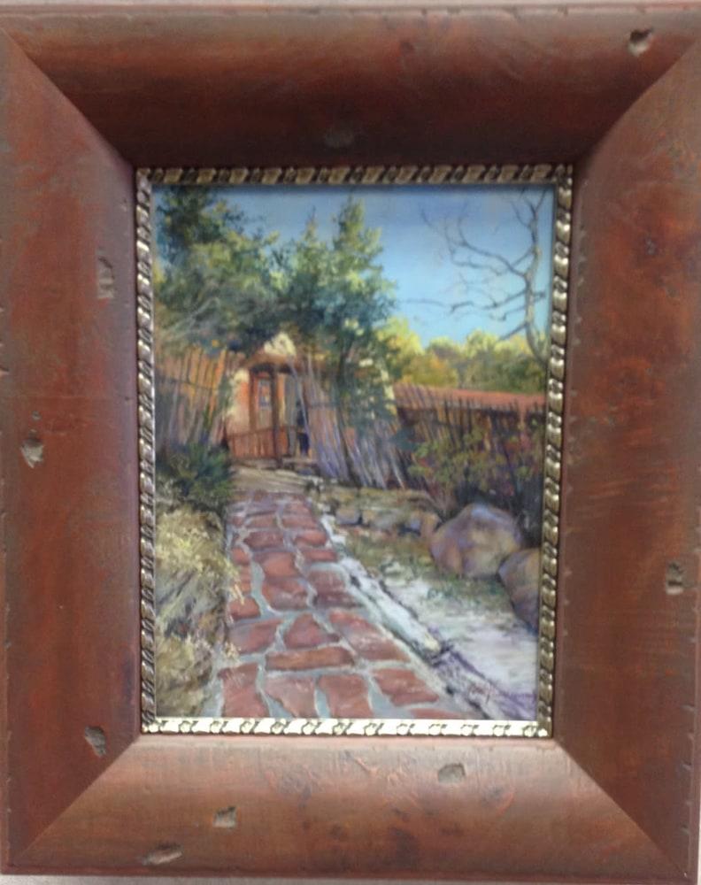Divine Light 12x9in pastel Lindy Cook Severns framed