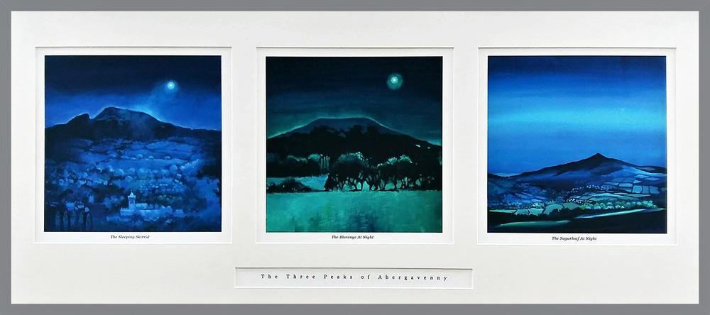 Three peaks Dark grey frame copy