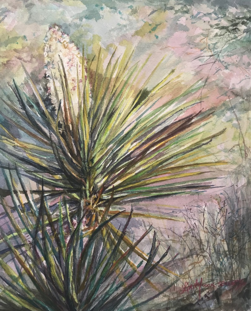 Pockets of Spring 10x8 watercolor Lindy Cook Severns