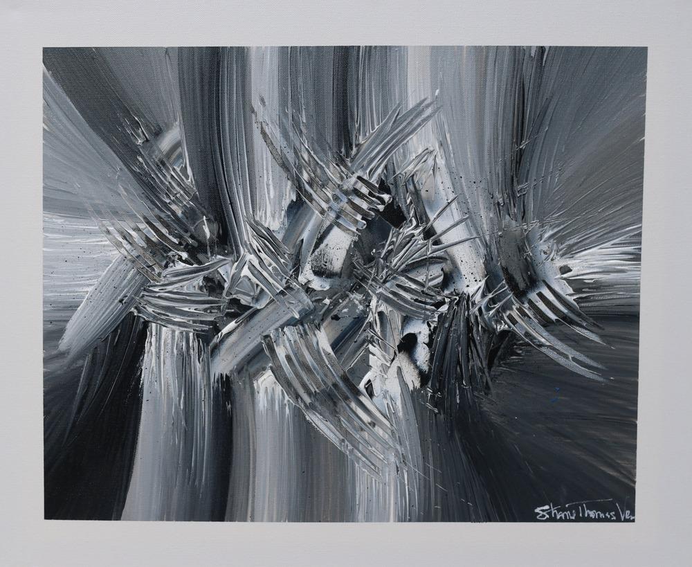 Shane VromanTurbulence acrylic painting