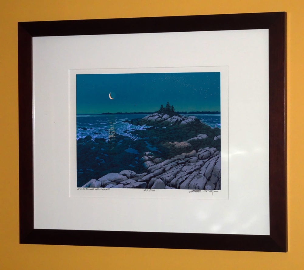 Crescent Coast Framed