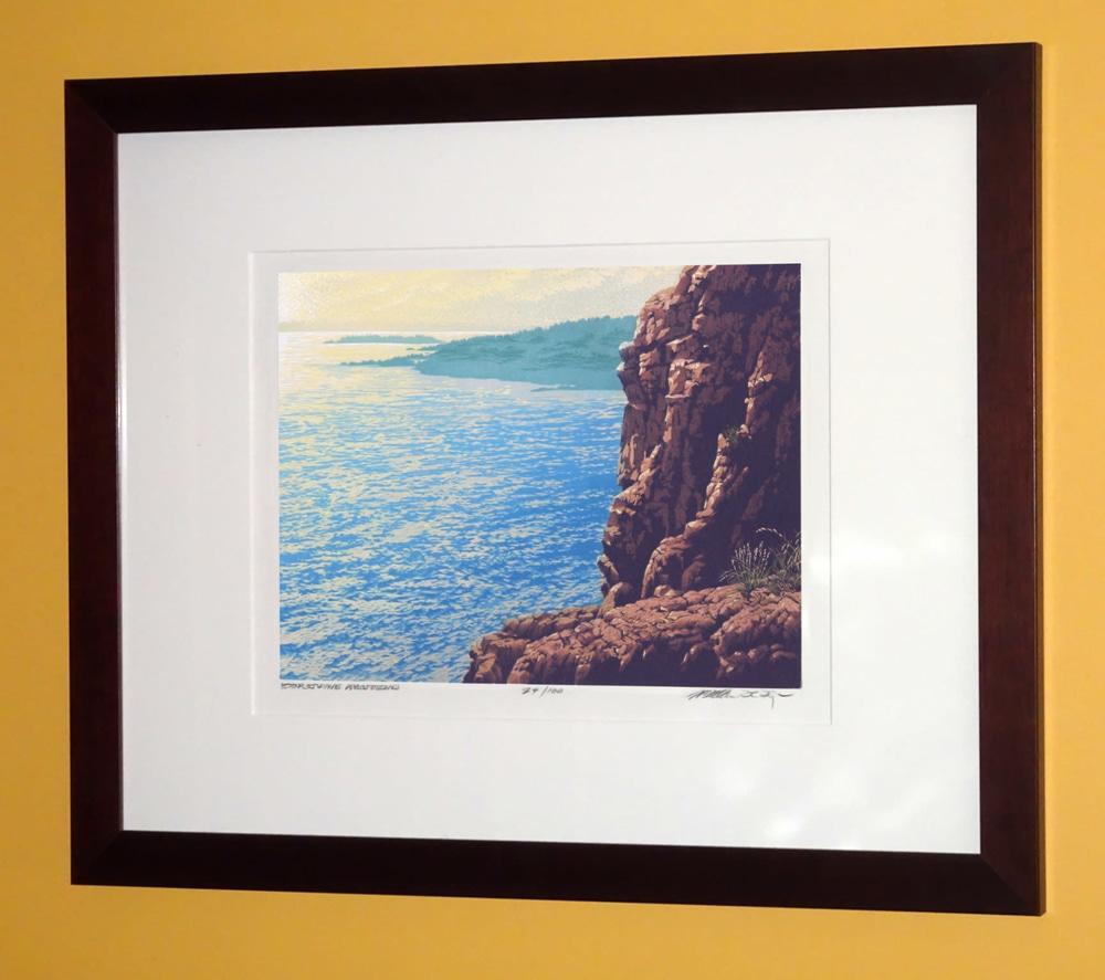 Shining Coast Framed