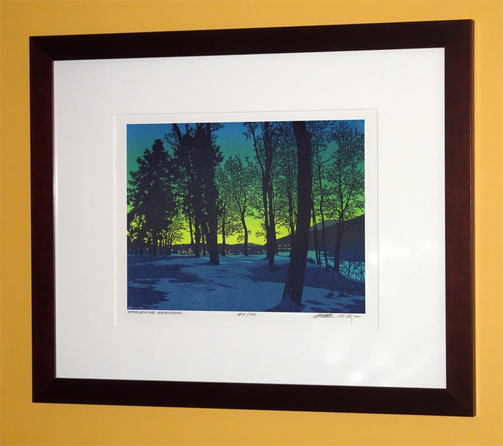 Twilight Village Framed