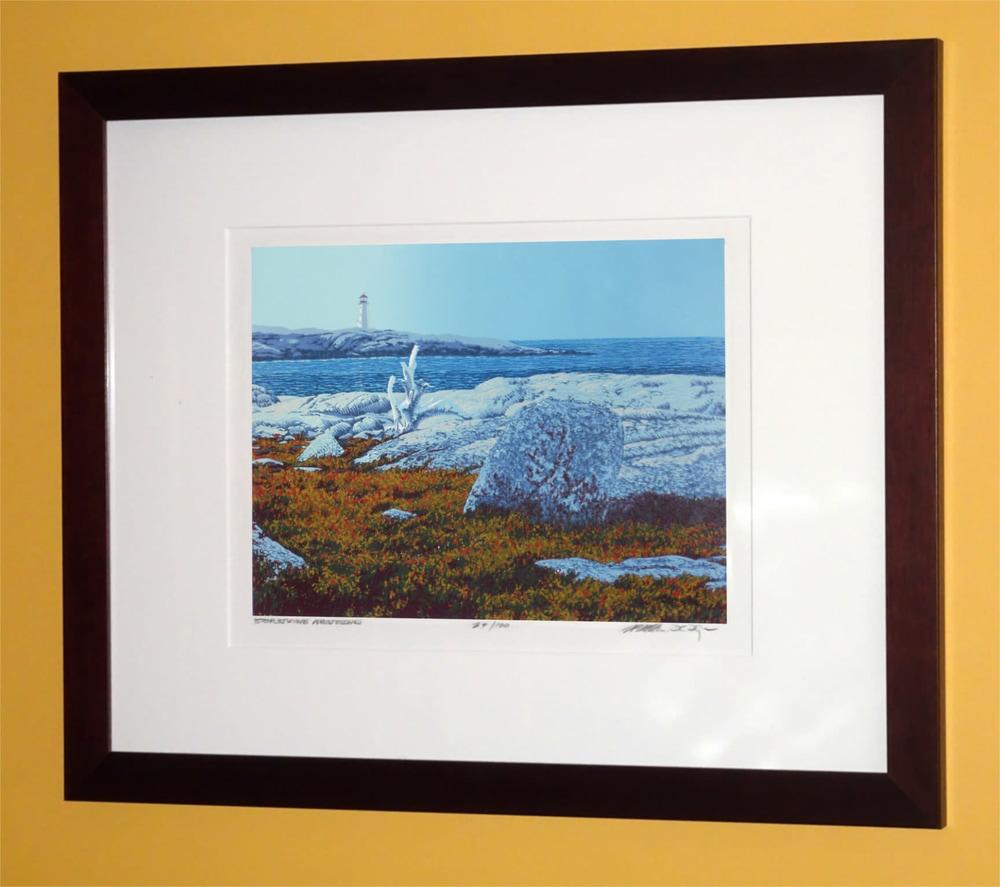 Daybreak At Peggys Cove Framed