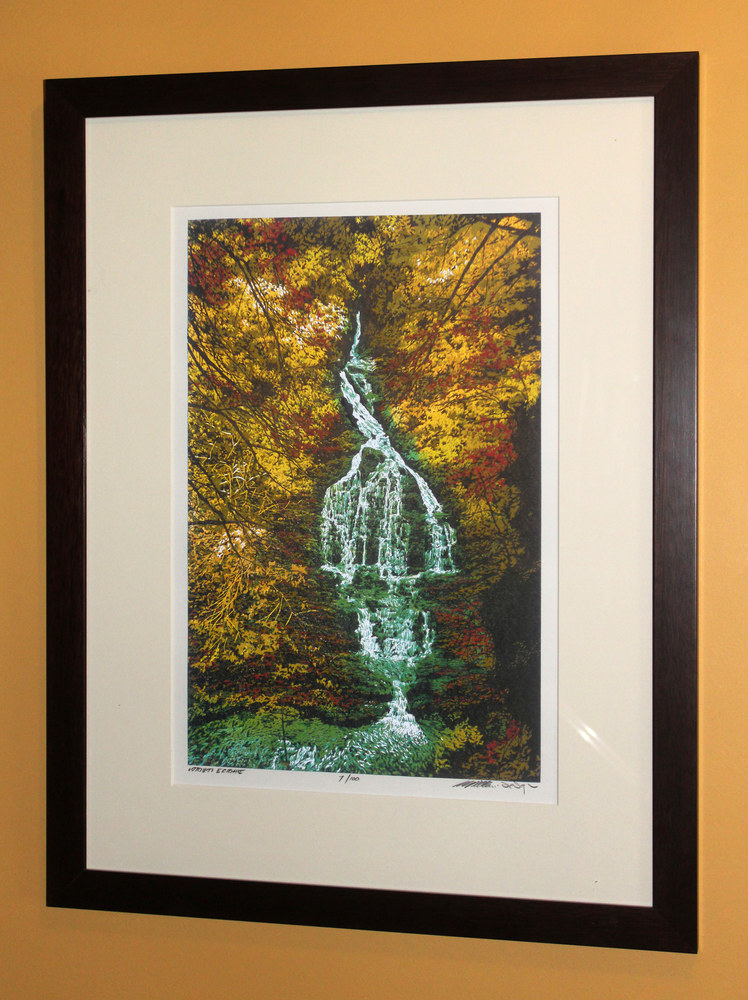Deep Wood Falls Framed