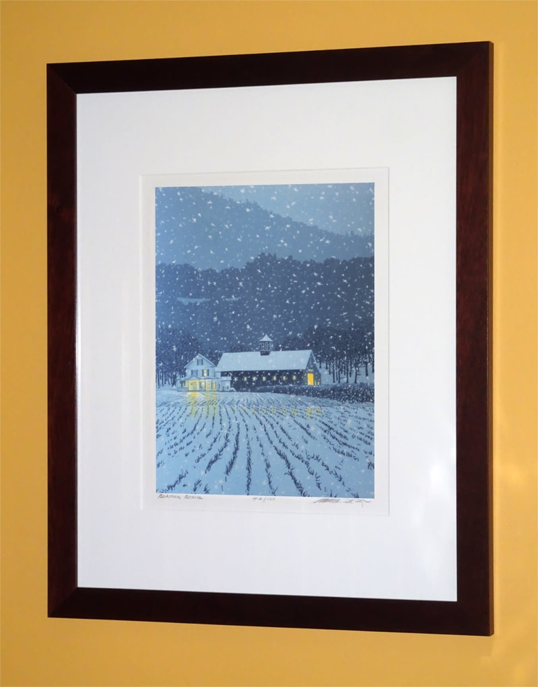 First Snow Framed