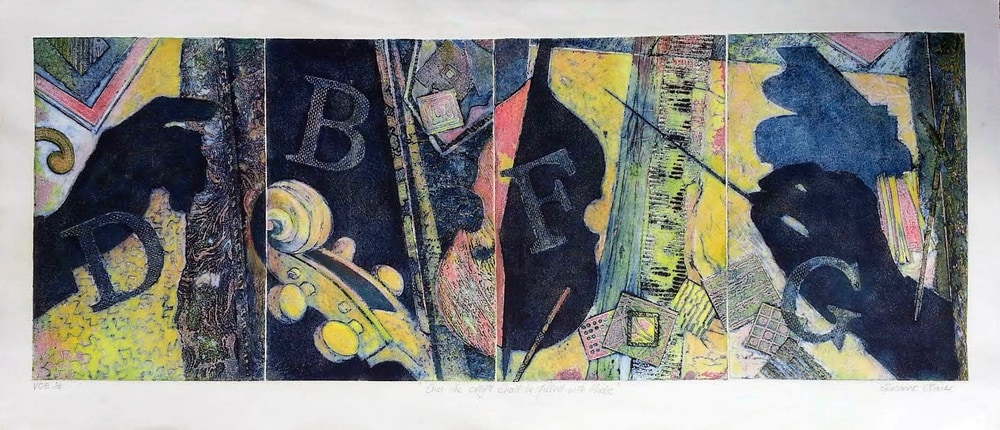 Music collagraph first print copy 2