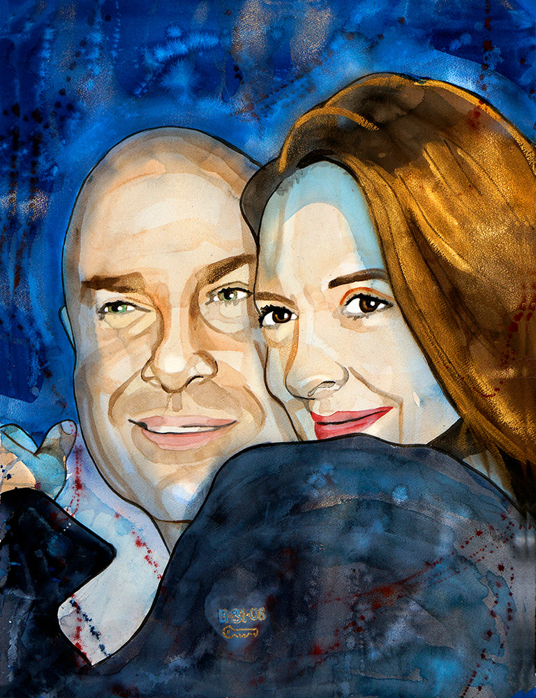 custom portrait couple