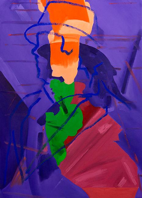 Stuart Bush 2020 Play his base desires oil on canvas 50