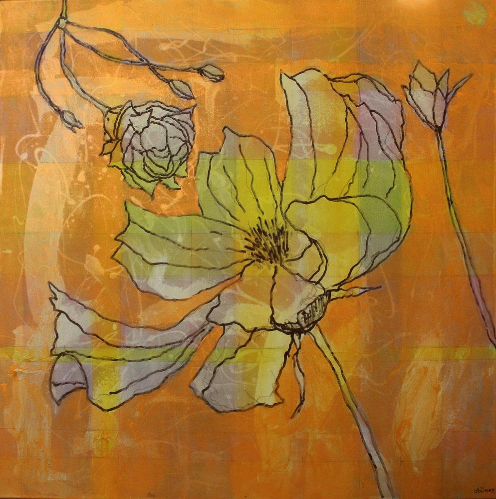 Orange Flower 36x36 Full IMG 9368