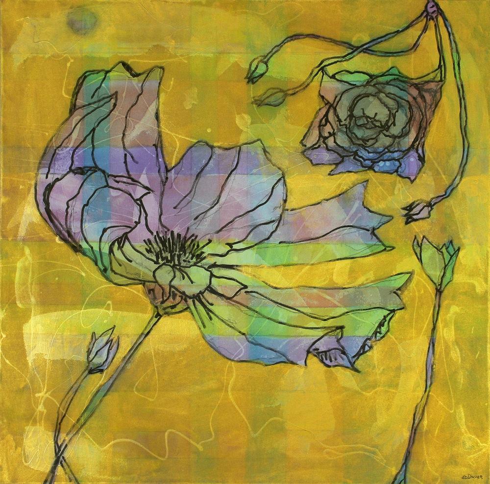 Gold Flower 36x36 IMG 9312