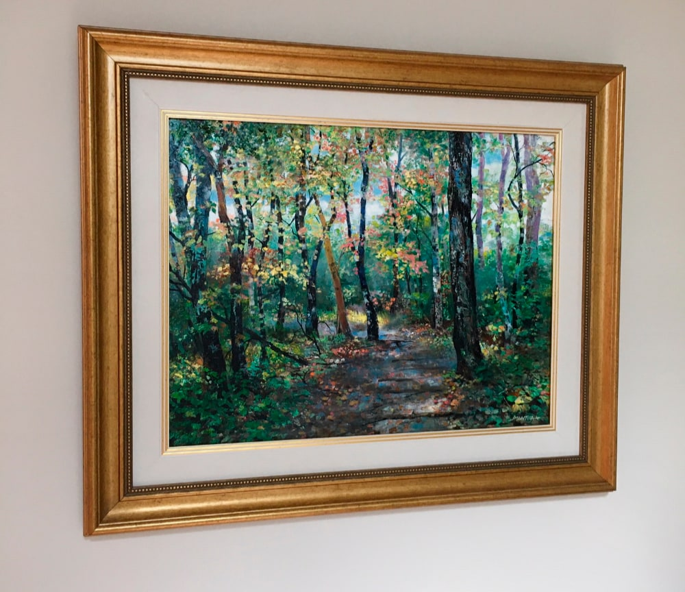 the path   original   photo on the wall