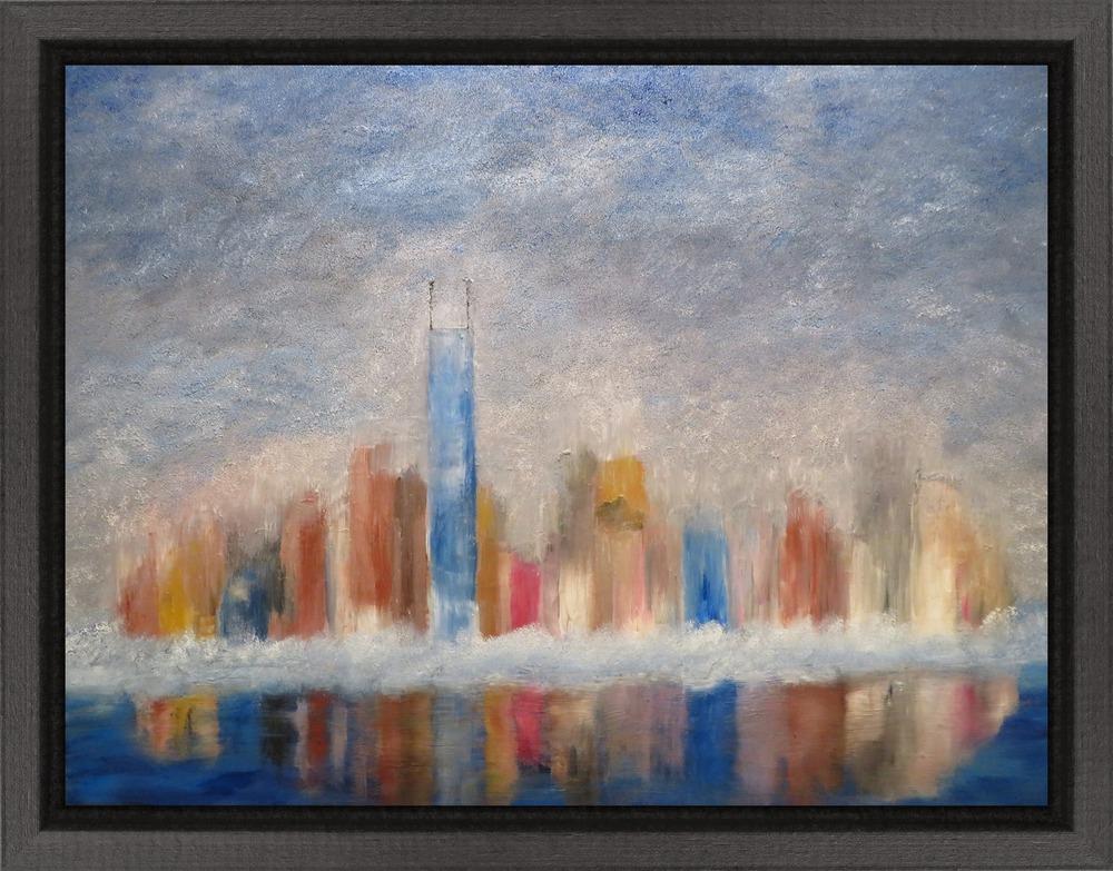 Chicago Skyline InPixio framed