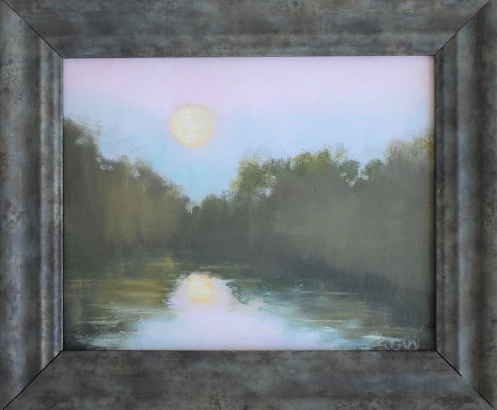 Setting Moon   framed original
