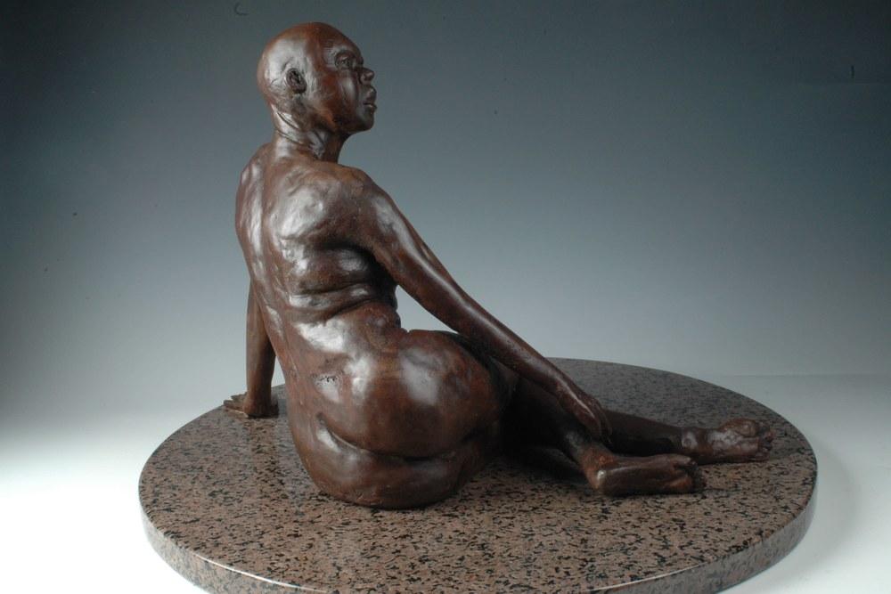 La Fuenta - Bonded Marble Sculpture by Eduardo Gomez - right side