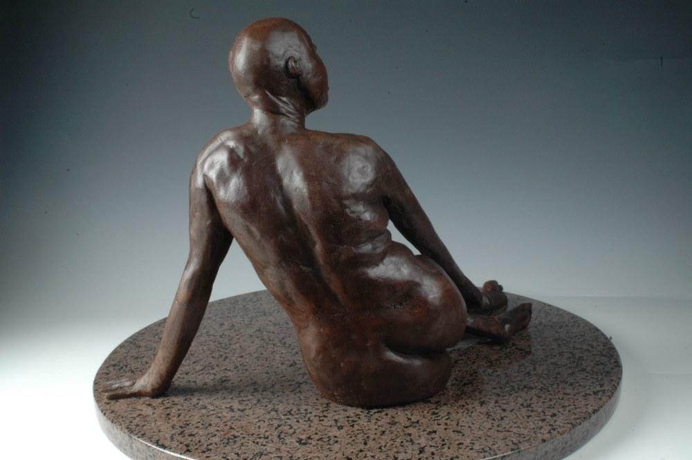 La Fuenta - Bonded Marble Sculpture by Eduardo Gomez - back