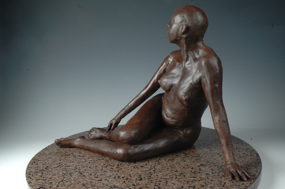 La Fuenta - Bonded Marble Sculpture by Eduardo Gomez - left side