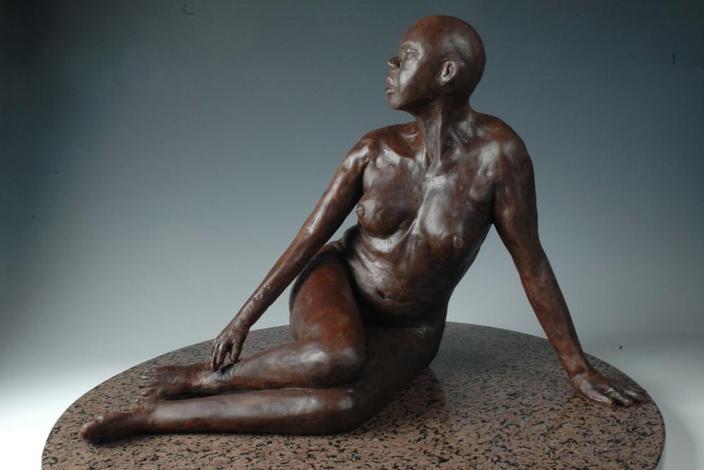 The Source 4La Fuente - Bonded Marble Sculpture by Eduardo Gomez