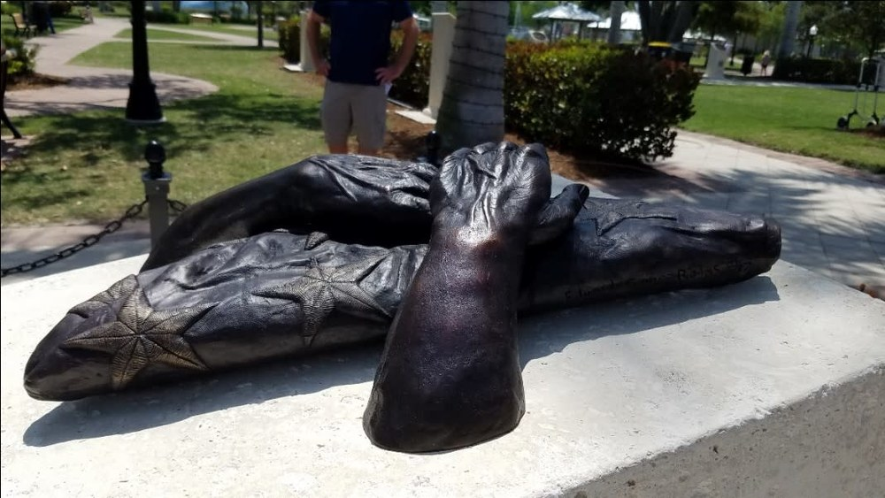 Above and Beyond - A Cast Bronze Sculpture at Stuart Memorial Park - Side view