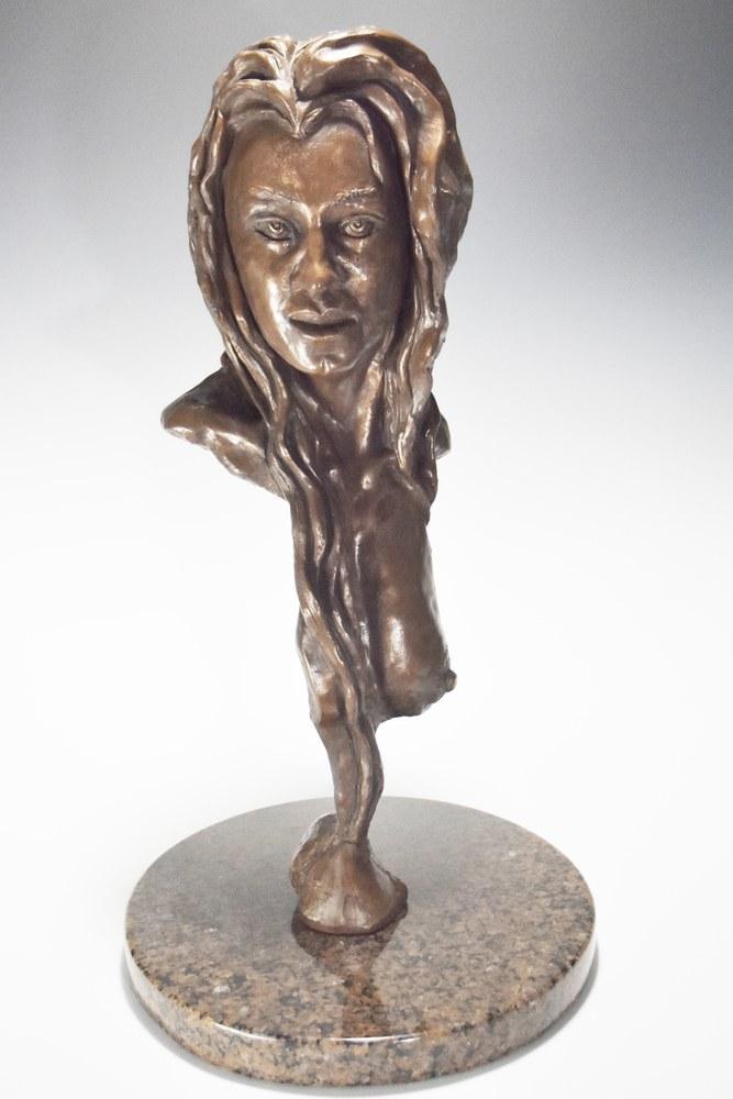 Felina - Female Portrait Sculpture by Eduardo Gomez - Front