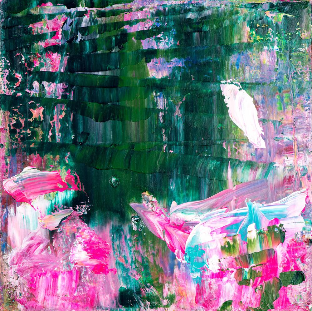 Eadaoin Glynn 2020, a walking journey 5, acrylic on canvas 30x30cm HiRes