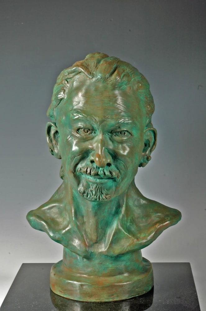 Musician with a Broken Nose Fine Art Ceramics by Eduardo Gomez