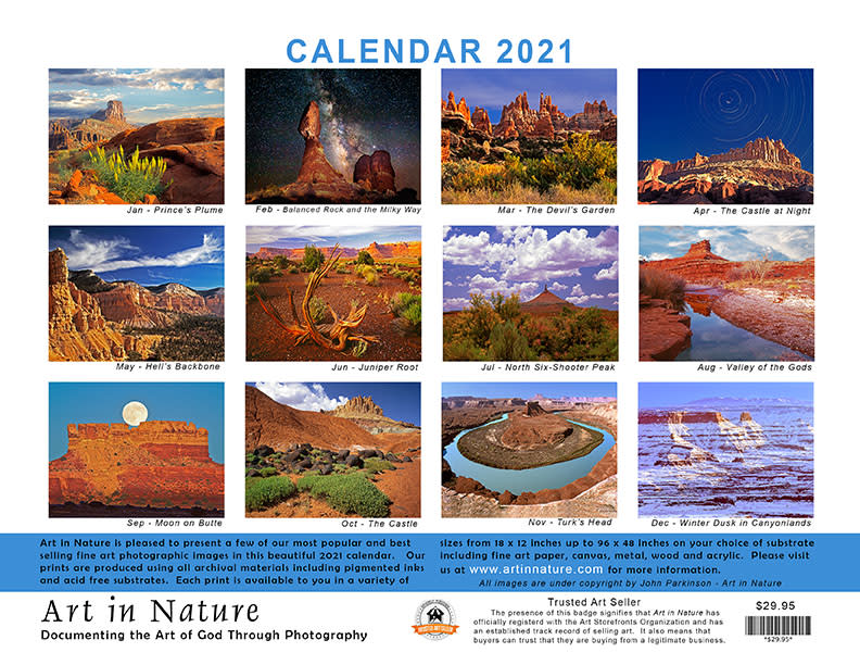 John's Calendar Back