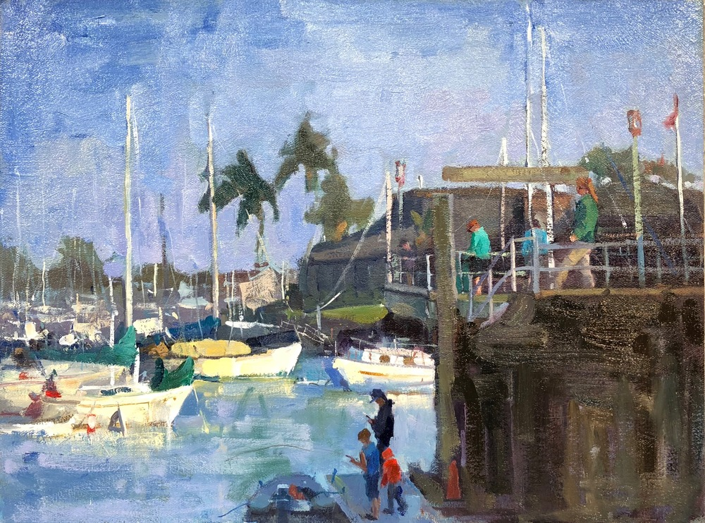 18   Fun at the Harbor, Dana Point  12 x 16