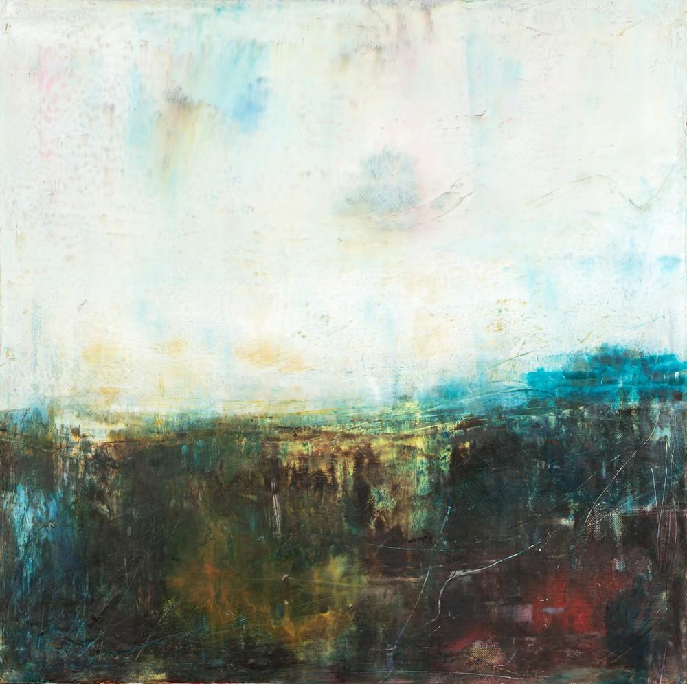 'The Clear Silence' Eadaoin Glynn 2019 oil cold wax on canvas 50x50cm HiRes