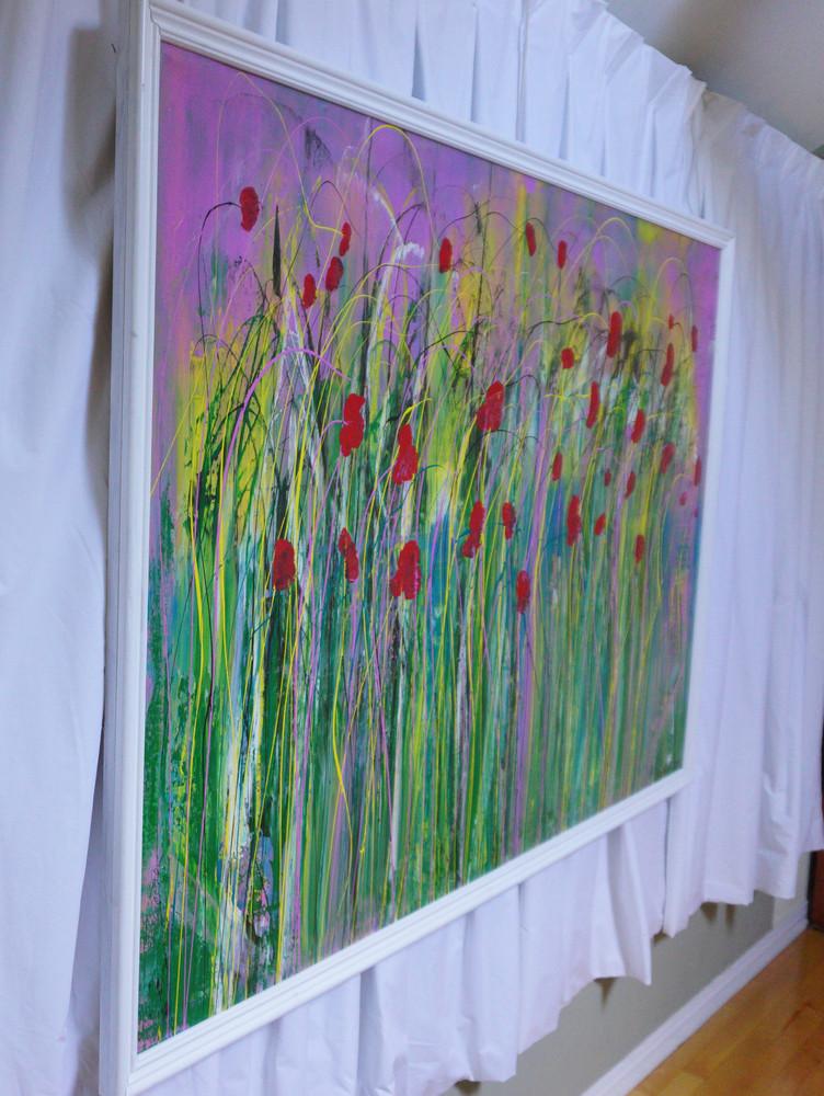 Poppies in the Wind II Left